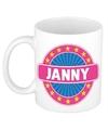 Janny naam koffie mok beker 300 ml