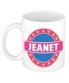 Jeanet naam koffie mok beker 300 ml