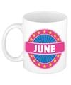 June naam koffie mok beker 300 ml