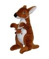Kangoeroe met jong knuffel 50 cm