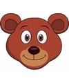 Kartonnen beren masker voor kinderen