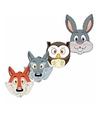 Kartonnen bosdieren maskers voor kinderen 4x