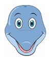 Kartonnen dolfijnen masker voor kinderen