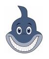 Kartonnen haaien masker voor kinderen