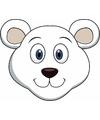 Kartonnen ijsberen masker voor kinderen