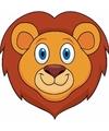 Kartonnen leeuwen masker voor kinderen