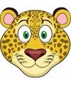 Kartonnen luipaarden masker voor kinderen