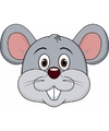 Kartonnen muizen masker voor kinderen
