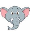 Kartonnen olifanten masker voor kinderen