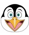 Kartonnen pinguin masker voor kinderen