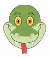 Kartonnen slangen masker voor kinderen