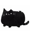 Kat poes kussentje zwart 40 cm
