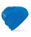 Katoenen sport beanie blauw voor volwassenen