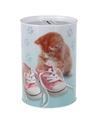Katten poezen met schoenen spaarpot 15 cm