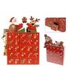 Kerst advent kalender met kerstman