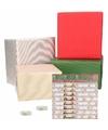 Kerst cadeaupapier pakket m multi met etiketten