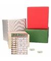 Kerst cadeaupapier pakket s multi met etiketten