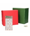 Kerst cadeaupapier pakket s rood groen met etiketten