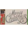 Kerst decoratie raamsticker merry christmas zilver 42 cm