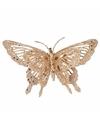 Kerst decoratie vlinder goud 15 x 11 cm