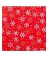 Kerst inpakpapier rood met sneeuwvlokken