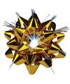 Kerst kadostrik goud met 1 led lichtje 9cm