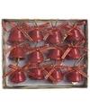 Kerst kerstbelletjes rood 12 stuks