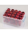 Kerstballen box assorti rood 70 stuks