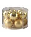Kerstballen set goud 6 cm 10 stuks