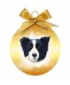 Kerstboom decoratie kerstbal hond border collie 8 cm