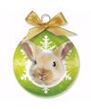 Kerstboom decoratie kerstbal rabbit 8 cm