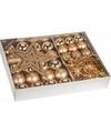 Kerstboom decoratie set 33 delig classic gold