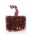 Kerstboom sterren folie slinger rood 700 cm
