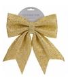 Kerstboom strik 34 cm classic gold