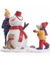 Kerstdorp maken figuurtjes sneeuwpop bouwen 9 5 cm