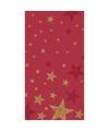 Kerstmis tafelkleed shining star rood 138 x 220 cm