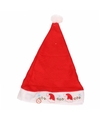 Kerstmuts mutsje print met licht voor kinderen