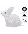Kerstverlichting konijn met led licht 30 cm