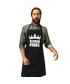 Keuken prins keukenschort zwart heren