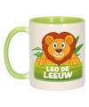 Kinder leeuwen mok beker leo de leeuw groen wit 300 ml