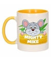 Kinder muizen mok beker mighty mike geel wit 300 ml