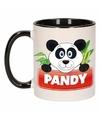 Kinder pandabeer mok beker pandy zwart wit 300 ml