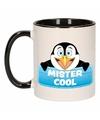 Kinder pinguin mok beker mister cool zwart wit 300 ml