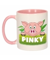 Kinder varkens mok beker pinky roze wit 300 ml