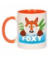 Kinder vossen mok beker foxy oranje wit 300 ml