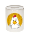 Kippen spaarpot voor kinderen 9 cm