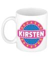 Kirsten naam koffie mok beker 300 ml