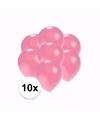 Kleine metallic roze ballonnen 10 stuks
