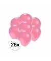 Kleine metallic roze ballonnen 25 stuks