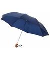 Kleine paraplu donkerblauw 56 cm